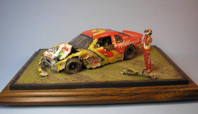1 24 Revell Monogram Monte Carlo Wrecked Nascar By Terry Davis